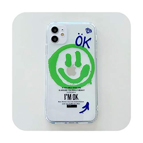 Fundas de teléfono de borde recto para iPhone 12 Mini 11 Pro XS Max X XR 7 8 Plus SE 2020 funda suave TPU cubierta 17-para iPhone X(XS)