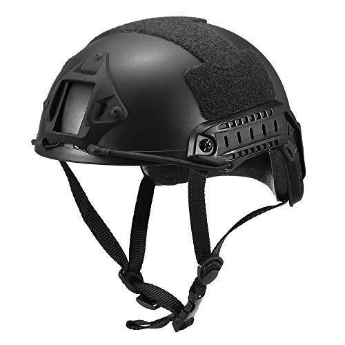Rantoloys Ballistischer Schutzhelm ABS Schneller Helm Seitenschienenhelm Outdoor-Training Paintball-Kopfschutz