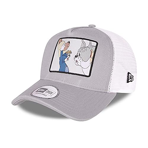 New Era Tom and Jerry Grey A-Frame Adjustable Trucker Cap - One-Size