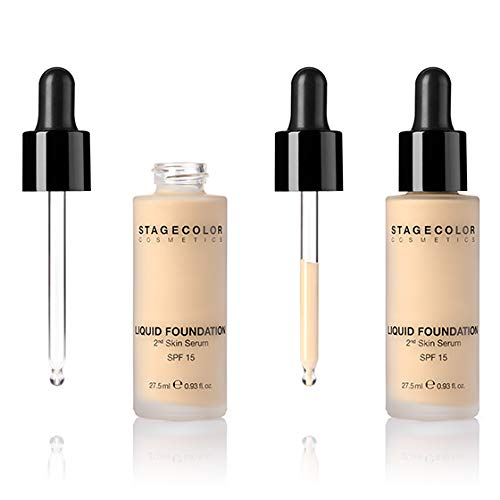 Stagecolor Cosmetics - Liquid Foundation LSF 15-2nd Skin Serum - Natural Beige - 27,5 ml