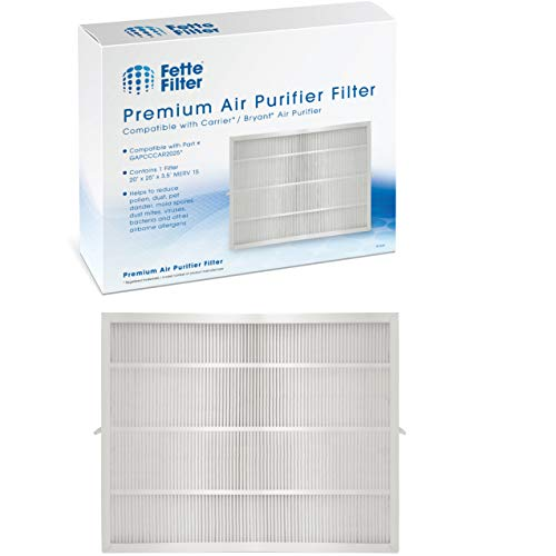 Fette Filter - Air Purifier Cartridge Filter Compatible with Bryant / Carrier (20' x 25'). Compare to Part # GAPBBCAR2025/GAPCCCAR2025 - Pack of 1