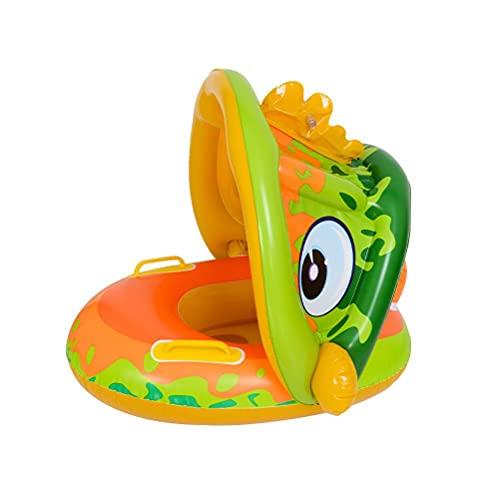 Urisgo Flotador hinchable único para bebé con toldo extraíble