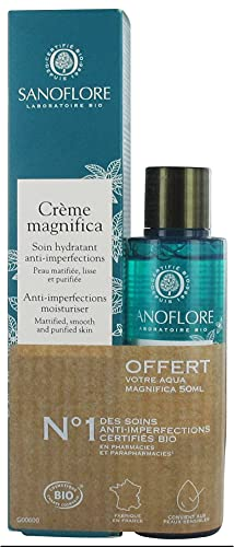 Sanoflore Crème Magnifica Soin Hydratant Anti-Imperfections Bio 40 ml + Eau de Soin Botanique Anti-Imperfections Bio 50 ml Offert