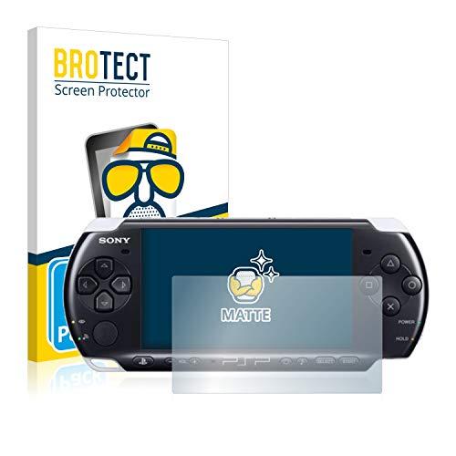 BROTECT Protector Pantalla Anti-Reflejos Compatible con Sony PSP 3000 (2 Unidades) Pelicula Mate Anti-Huellas