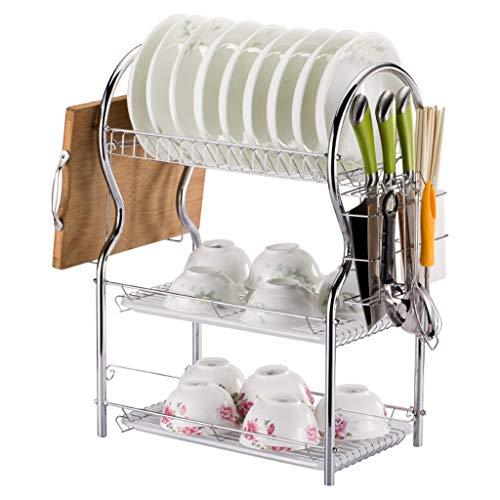 OldPAPA 3 gradas Estante del Plato, sobre el Fregadero de Almacenamiento de la Cocina Estante, Soportes para Platos Dish Drainer Dish Rack Holder Organización Estante, A