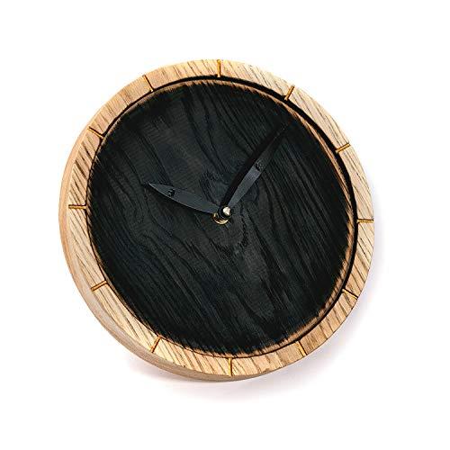 Reloj de madera rústica hecha a mano Reloj de pared de madera Reloj rústico Reloj de madera rústica Reloj de madera de roble Diseño natural Decoración de interiores Reloj de madera