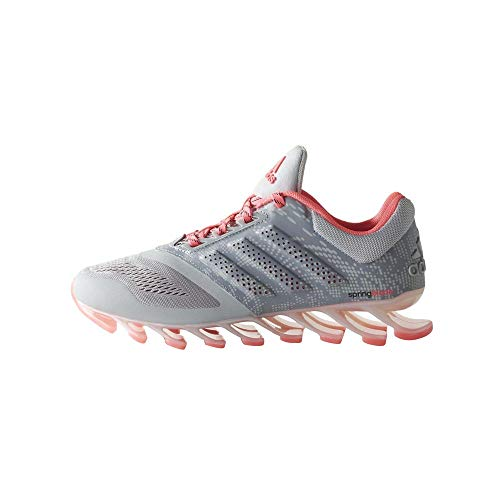 adidas Springblade Drive 2 - Tenis de correr gris/plateado metálico/rosa (4,5 UK)