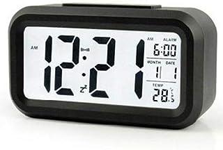 ساعة منبه مضيئة الكترونية بشاشة كبيرة