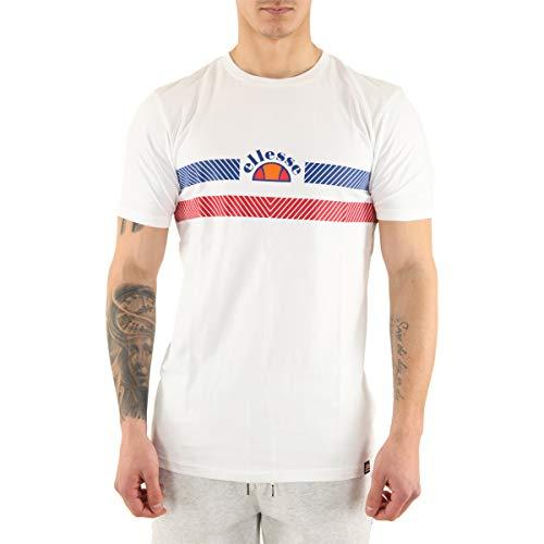 Ellesse de los Hombres Camiseta Lori, Blanco, S