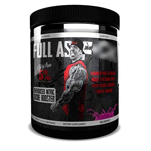 Rich Piana 5% Nutrition FAF Overdosed Nitric Oxide Boosting, Non-Stim, Pre-Workout Powder | Massive Pumps, Strength Gains & Endurance | Aminos, L-Citrulline, Agmatine | 12.7 oz (Wildberry)