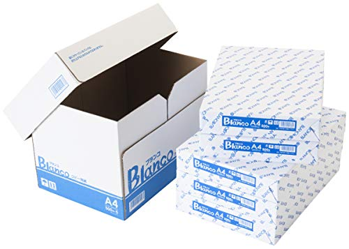 コピー用紙 A4 ホワイトコピー用紙 高白色 紙厚0.09mm 2500枚(500×5) ブランコ