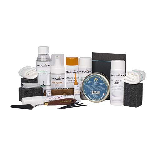 COLOURLOCK® Kit complet de réparation du cuir avec nettoyant doux RAL 9001 Blanc crème