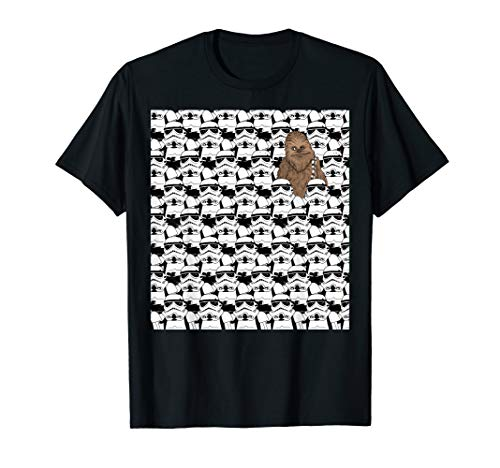 Star Wars Where Is Chewbacca Stormtrooper Fill T-Shirt