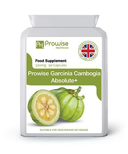 Garcinia Cambogia Frutto intero 500mg 60 Capsule - Regno Unito Prodotto secondo GMP Qualità garantita - Adatto a vegetariani e vegani da Prowise Healthcare
