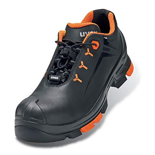 Uvex 2 Arbeitsschuhe - Sicherheitsschuhe S3 SRC ESD - Orange-Schwarz - Weite 12 / Weit - GR, Größe:45
