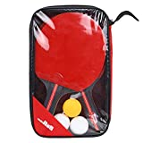 Naiyafly 2Pcs New Upgraded Carbon Table Tennis Racket Set Super Powerful Ping Pong Racket Bat Adult Club Training for Professional Recreational Games