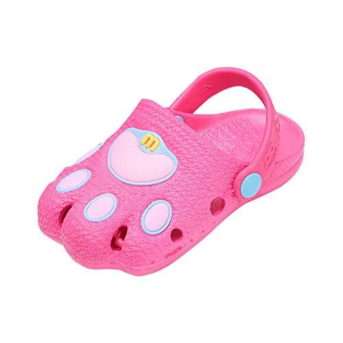 Miyanuby Zuecos Niños Niñas Pata de Gato Forma Suela Blanda Antideslizante Sandalias/Zueco de Playa/Zapatos Transpirables Jardín Zapatos Zapatillas 1-7 Años