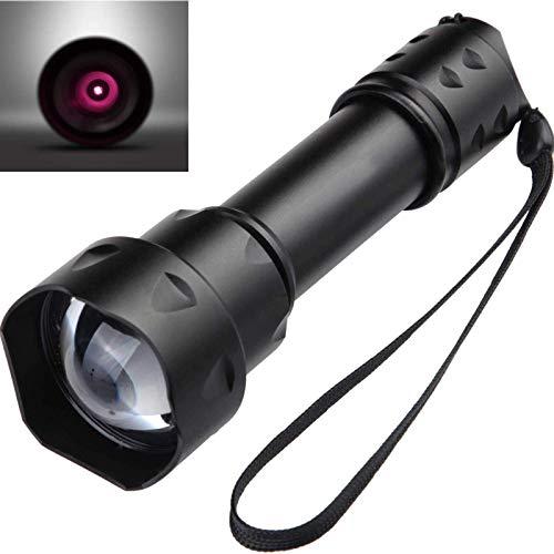 IR Taschenlampe 850nm, Nachtsichtgeräte für Infrarot Taschenlampen Zoomfähige, Fokus Adjustablenfrared LED Taschenlampe (Infrarotlicht ist für menschliche Augen nicht sichtbar)Keine Batterie Enthalten
