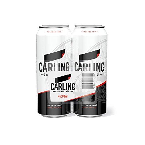 Cerveza inglesa Carling Original Lager (500ml), Pack de 6 unidades