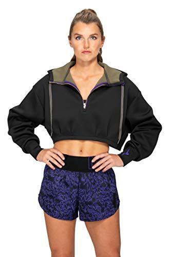 Mizuno Women's Hoodie Ronda Rousey Reputation-Sudadera con Capucha para Mujer, Negro, L