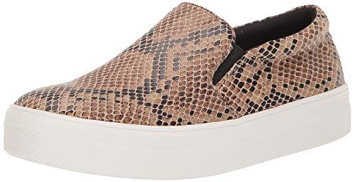 Steve Madden Women's Gills Sneaker, Taupe Snake, 11 M US
