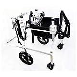 ZGQQQ 4 Räder Hund Rollstuhl Power Cart Behindertentier Vorderglied Hinterglied Roller Älterer Hund Rehabilitation Roller für Großer Hund Bulldogge, Hirte Usw. XL 20-75kg (Size : XXL-02)
