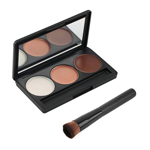 Maquillage - Palette de 3 couleurs pour le contournage, Contour/Blush/Highlight by DURSHANI