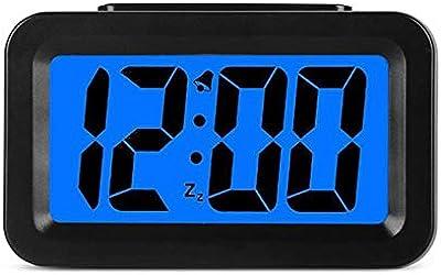LTOOD Reloj despertador electrónico Reloj de cabecera del estudiante Reloj de mesa inteligente Reloj de mesa