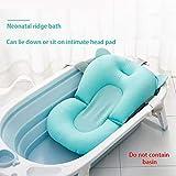 CDFD Cartoon Portátil Baby Shower Bath Pad Pad Antideslizante Bañera Mat Recién Nacido Seguridad Seguridad Baño Soporte Cojín Almohada Plegable