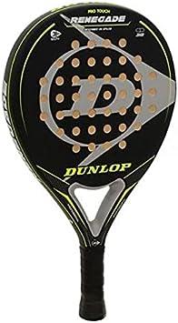 Pala de Padel Dunlop Renegade + Overgrip / Mejores Palas y Raquetas de Pádel para Hombre Mujer y Niño / Palas Raquetas de Alto Control y Marco de Carbono