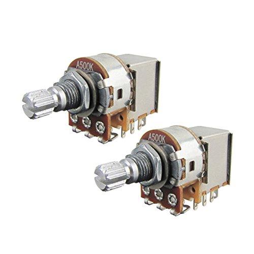 IKN A500K Potenciómetros Push Pull, potenciómetros cónicos de audio, eje dividido corto...