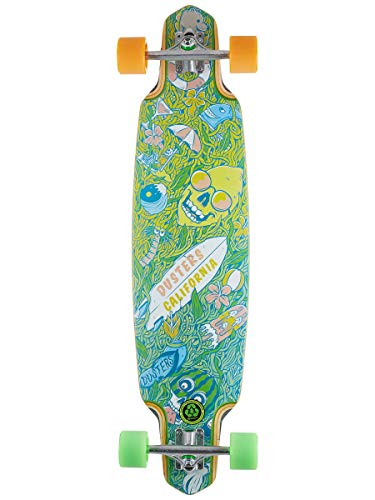Dusters Longboard California Skate Playground 38 Green Yellow