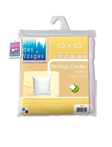 Nuit des Vosges 2066920 Aubin sous-Taie d'oreiller Absorbante Molleton/Coton Blanc 65 x 65 cm