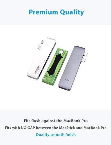 """CharJenPro USB C Hub for MacBook Pro 16"""", 15"""", 13"""", 2020, 2019, 2018, MacBook Air 2020, 2019, 2018, 100W Power, TB 3, 2 USB 3.0, microSD, SD Card Reader, USB C Port. USBC Adapter for MacBook 2020. 3 PREMIUM: Only for MacBook Air 2018 - 2020, MacBook Pro 2016 - 2020. Compact HIGH-GRADE Aluminum body. Only versatile all in one you need. THUNDERBOLT 3 PORT (top USBC port): Charges laptop up to 100W. 5K@60Hz video output for Ultra HD. Transfers data up to 40Gbps. The 2nd USB C port is for DATA ONLY transfer up to 5Gbps. FAST PORTS: 2 USB 3.0 and 1 USB C port for external hard drives, flash/thumb drives, phones, tablets, printers, scanners, all USB devices. Speeds up to 5Gbps."""