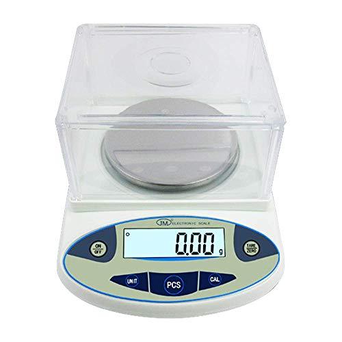 Hanchen Balanza de precisión 100 g × 0.001 g Balanzas analíticas de laboratorio para laboratorio escuela joyería tienda 220 V con función de recuento pantalla LCD