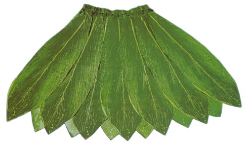 Hawaiian Poly-Silk Ti Leaf Hula Skirt - Adult Size - Reversible Green