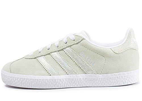 Adidas Gazelle C, Zapatillas de Deporte Unisex niño, Verde (Aerver/Aerver/Ftwbla 000), 30 EU