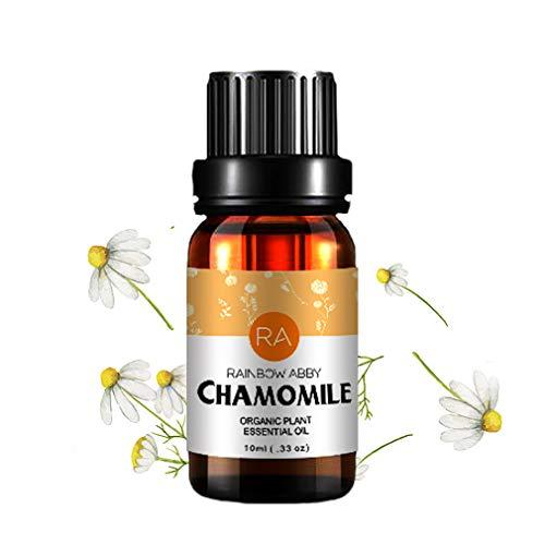 RainbowAbby Kamille Ätherisches Öl, 100% Reines Natürliches Aromatherapie Kamillenöl für Diffusor (10ML)