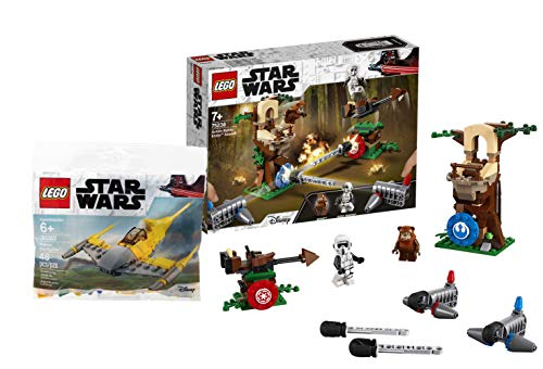 LEGO Star Wars 75238 - Action Battle Endor Attacke, Bauset Star Wars Naboo Starfighter #30383, Polybag