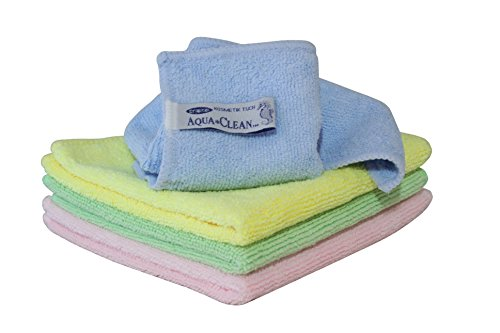 AQUA CLEAN Microfaser Kosmetiktücher 4er Set