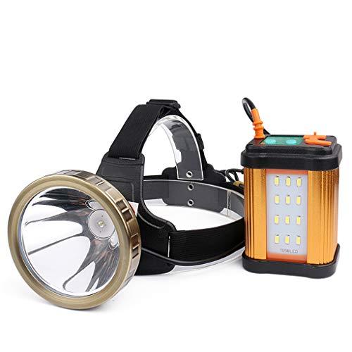 Phares de Forte Charge à Longue portée de Charge USB, Lampe de Poche Frontale à Del à 8 phares à Batterie au Lithium