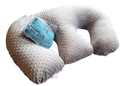 Twin Z Pillow + Grey Cuddle Cover +1 Free Travel Bag