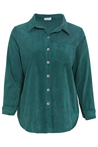 PAPRIKA Damen große Größen Cord-Hemd Hemdkragen Lange Ärmel