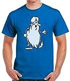 Desconocido 35mm - Camiseta Hombre Erase Una Vez - 80's - TV - EGB - Azul - Talla s