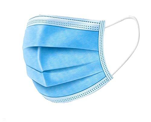 Einweg-Gesichts- 100 und Mundschutz, dreischichtiges, schmelzgeblasenes Vlies, antibakterielle Mittel, dick und atmungsaktiv, zuverlässiger Schutz beim Ausgehen-100 Stück