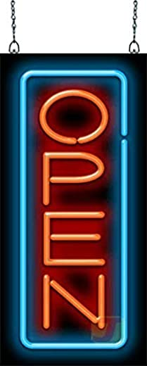 ✅Vertical Neon Open Sign – Red & Blue #Lighting & Ceiling Fans