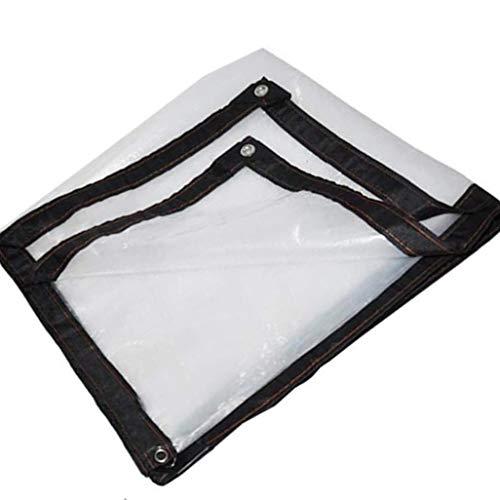 YU-ZC0 Tarpaulin Transparent, Waterproof Outdoor Patio Tarp Sheet with Metal Ring Buttonhole for Gardening Rain Curtain,4 * 6m