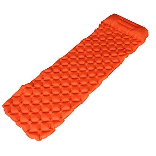 KELUNIS Lightweight Inflatable Sleeping Pad, Waterproof Camping Air Mattress with Storage Dry Bag Best for Backpacking and Hiking,Orange