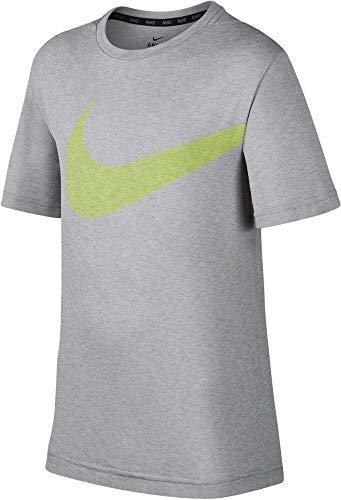 Nike Kinder Breathe Trainingsshirt, grau, M - 137-147 cm