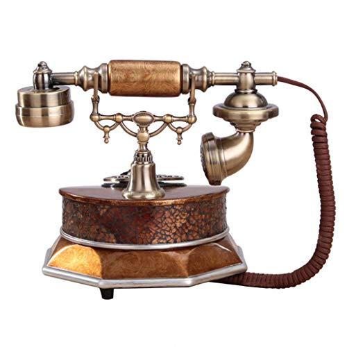 WBDZ Teléfonos de teléfono Retro rotativos, Accesorios Teléfono de Marcado rotativo de Metal, teléfono Antiguo, línea Fija (línea de Color: Bronce, tamaño: 25 * 20 * 25 cm)